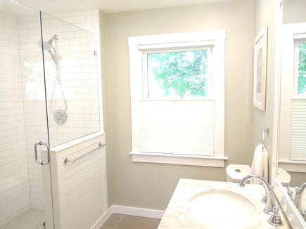 Woods Hole Woods Hole vacation rental - En suite master bathroom with glass shower, tile, floor heat
