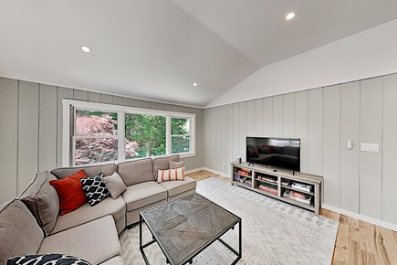 Woods Hole Woods Hole vacation rental - Bright and airy lounging area with wide-screen smart TV, A/C