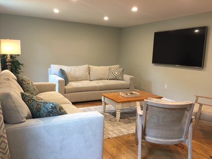 Brewster Cape Cod vacation rental - Family Room - Seats 8 comfortablySmart TV. and 2 new couches.