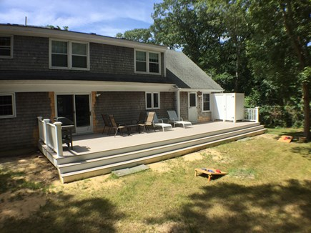 Brewster Cape Cod vacation rental - A new deck and outdoor shower for easy rinsing.