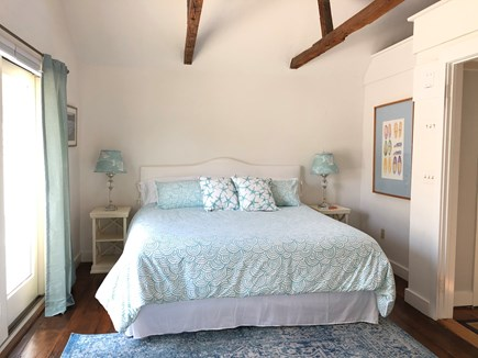 Chatham Cape Cod vacation rental - First floor master bedroom with king bed and en-suite bathroom.