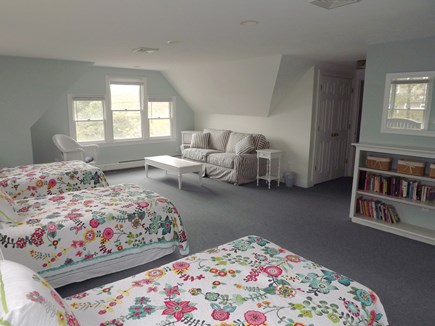 Chatham Cape Cod vacation rental - Second Floor Bedroom with Three Twin Beds and Full Bathroom