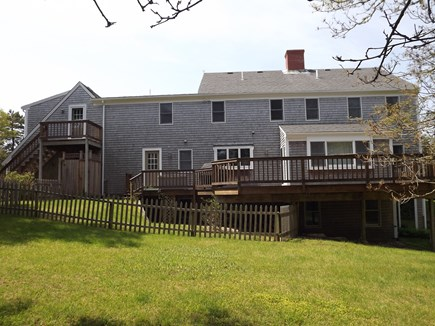 Chatham Cape Cod vacation rental - Nice Back Yard and Deck with Dining Table