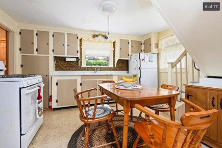 Harwich Port Cape Cod vacation rental - Kitchen with dining table.