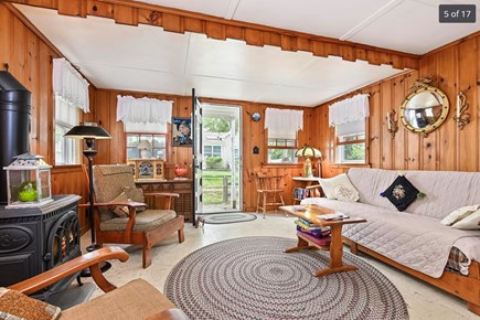 Harwich Port Cape Cod vacation rental - View of living room.