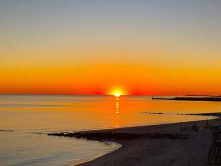 Harwich Port Cape Cod vacation rental - Sunset at Atlantic Ave Beach.