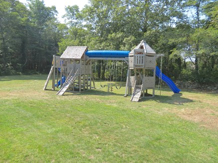Orleans Cape Cod vacation rental - KIds' playscape is good for hours of backyard entertainment