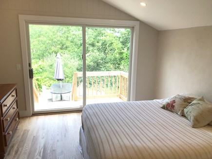 Truro Cape Cod vacation rental - Bedroom with sliders out to back deck