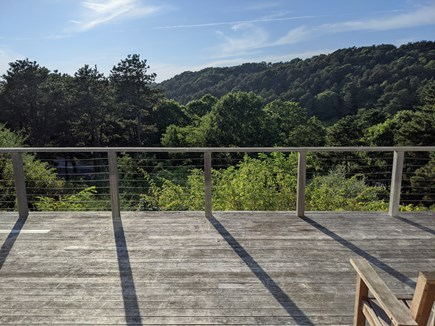 Truro Cape Cod vacation rental - Sweeping view from deck toward Pamet River & Corn Hill Beach