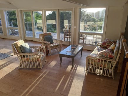 Truro Cape Cod vacation rental - Drinks and conversation in vintage wicker