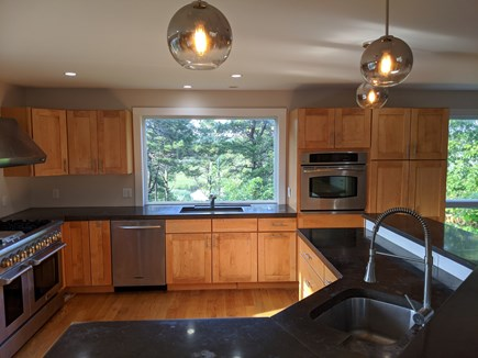 Truro Cape Cod vacation rental - Deluxe kitchen with stainless steel appliances including 3 ovens
