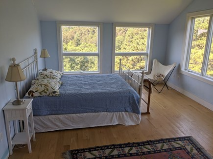 Truro Cape Cod vacation rental - Master Bedroom with awesome views of river (seasonal) and pond