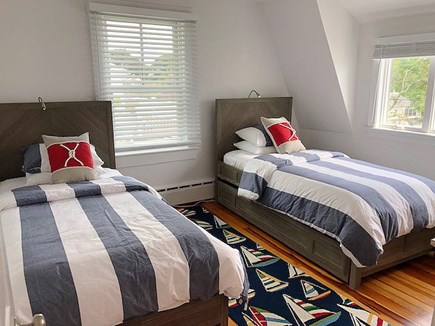 Harwichport Cape Cod vacation rental - Two Twin Beds and View of the Harbor from this Second Floor Room