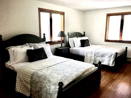 Bourne Cape Cod vacation rental - 3rd bedroom with two double beds and a trundle twin bed
