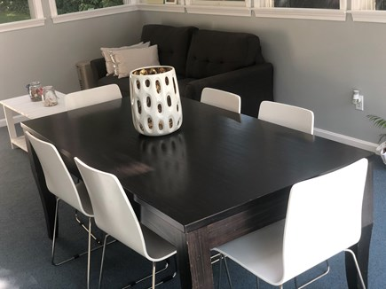 Bourne Cape Cod vacation rental - Dining Room // Sun room access to the pool
