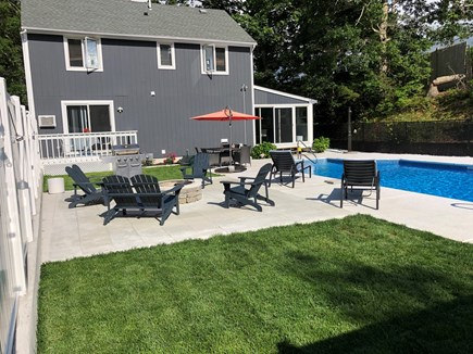 Bourne Cape Cod vacation rental - Relaxing Back yard, patio, and pool