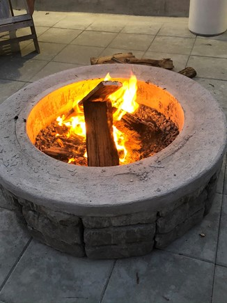Bourne Cape Cod vacation rental - Fire pit at night