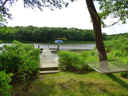 East Falmouth Waterfront Cape Cod vacation rental - Relax in the hammock, enjoy the dock