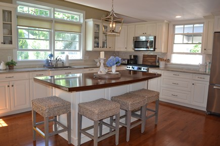 Falmouth Cape Cod vacation rental - Kitchen with center island