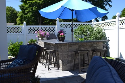 Falmouth Cape Cod vacation rental - Patio with bar and gas grill
