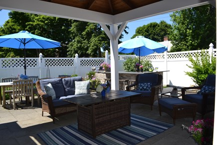 Falmouth Cape Cod vacation rental - Outdoor living under the pavilion