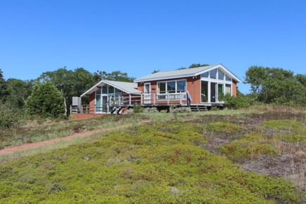 Truro Cape Cod vacation rental - Outside of house, Outdoor Shower (not enclosed) around Back.