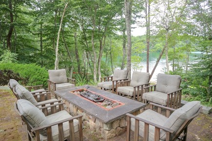 Brewster Cape Cod vacation rental - Fire pit and seating area