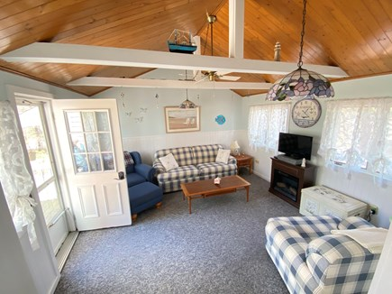 Yarmouth Port Cape Cod vacation rental - Front porch TV room