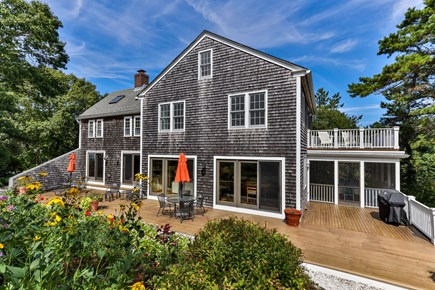 Truro Cape Cod vacation rental - Back of home faces all the gardens