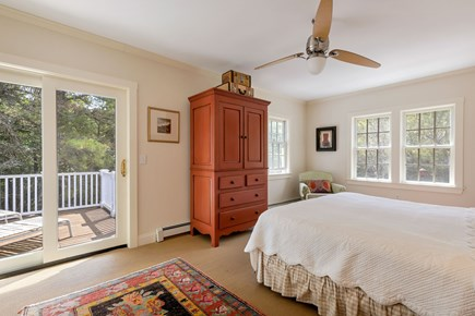 Truro Cape Cod vacation rental - Master Bedroom with sliders to a deck