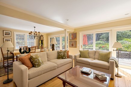 Truro Cape Cod vacation rental - Main Living Room Opens to the deck and gardens