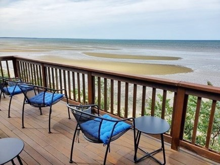 North Eastham Cape Cod vacation rental - Front deck at low tide