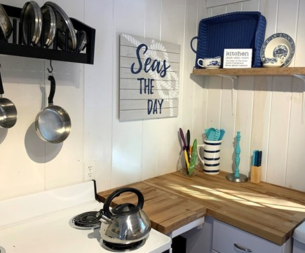 Brewster Cape Cod vacation rental - Electric stove and all the basics for cooking.