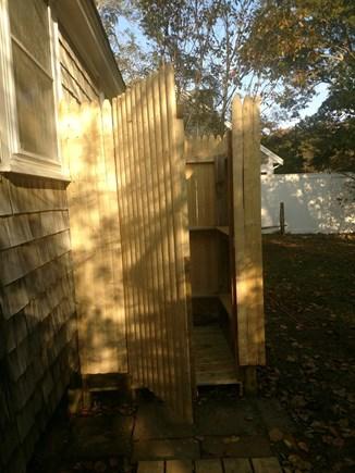 Brewster Cape Cod vacation rental - Brand new outdoor shower.
