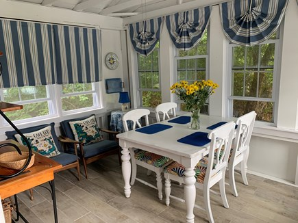 Brewster Cape Cod vacation rental - Lovely front Dining Room w fan.