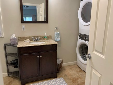 Brewster Cape Cod vacation rental - Master bath with washer and dryer