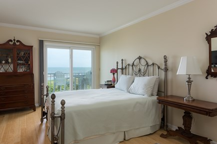 Harwich, Oceanfront Condo Cape Cod vacation rental - Bedroom with Queen size bed and ocean views