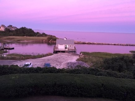 Harwich, Oceanfront Condo Cape Cod vacation rental - Sunset view of Fish Shach