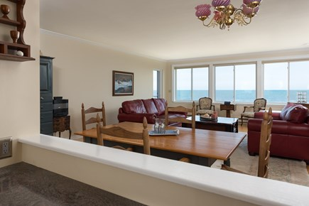 Harwich, Oceanfront Condo Cape Cod vacation rental - Living Room view from Kitchen
