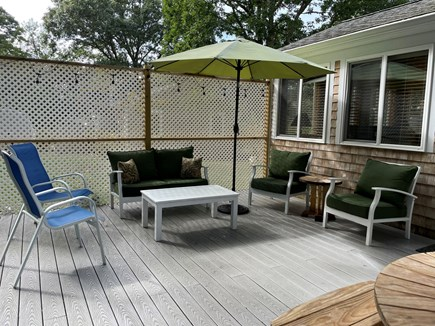 Brewster Cape Cod vacation rental - Large Private Back Deck with Outdoor Sofa Set and Mood Lighting
