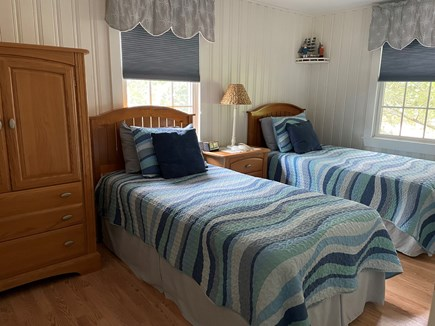 Brewster Cape Cod vacation rental - Bedroom #2 has 2 Twin Beds with Air Conditioner