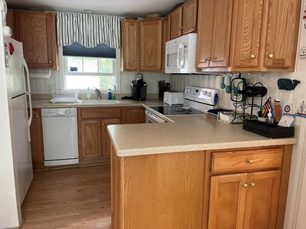Brewster Cape Cod vacation rental - Fully Stocked Kitchen with Stove, Dishwasher and Microwave