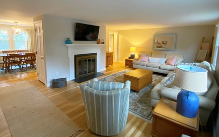 Harwich Cape Cod vacation rental - Open main level living space with two full couches and smart TV