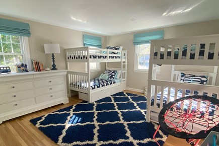 Harwich Cape Cod vacation rental - First-floor bunk room with one trundle (5 twins)