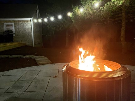 Harwich Cape Cod vacation rental - Ambient outdoor living with fire pit for cooler evenings
