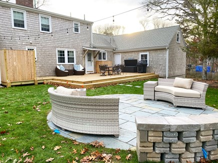 Harwich Cape Cod vacation rental - Bluestone patio with new cushioned lounge seating