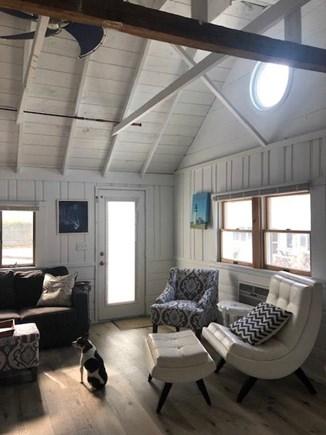 Dennis Port-Chases Ocean Grove Cape Cod vacation rental - Vaulted ceilings, ceiling fan, and AC wall unit