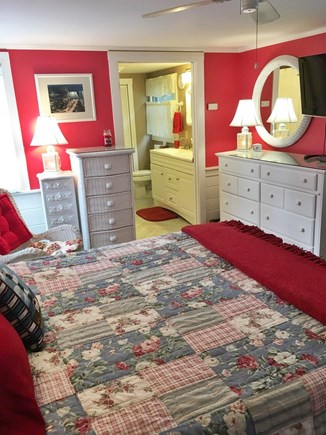 Harwich Port Cape Cod vacation rental - Queen Master en-suite BR walk in 2 person shower  + W/D + TV