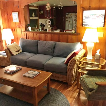 Harwich Port Cape Cod vacation rental - Living Room with view of Kitchen