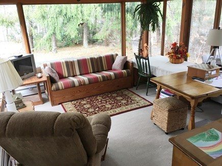 Harwich Port Cape Cod vacation rental - Sunroom den and office + TV